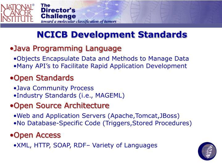 NCICB Development Standards