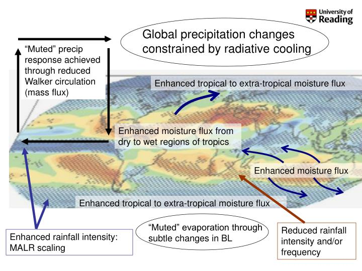 Global precipitation changes constrained by radiative cooling