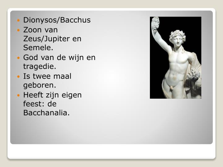 Dionysos/Bacchus