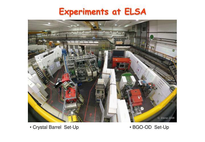 Experiments at ELSA