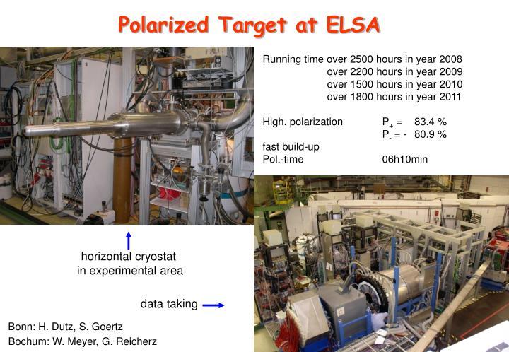 Polarized Target at ELSA