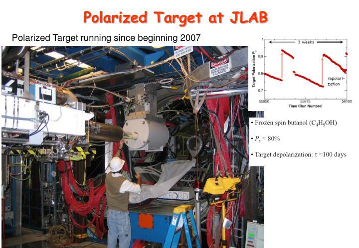Polarized Target at JLAB