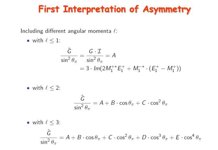 First Interpretation of Asymmetry