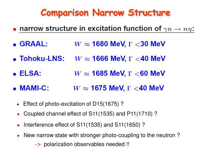 Comparison Narrow Structure