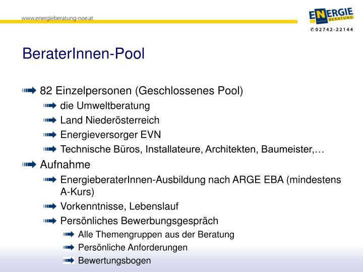 BeraterInnen-Pool