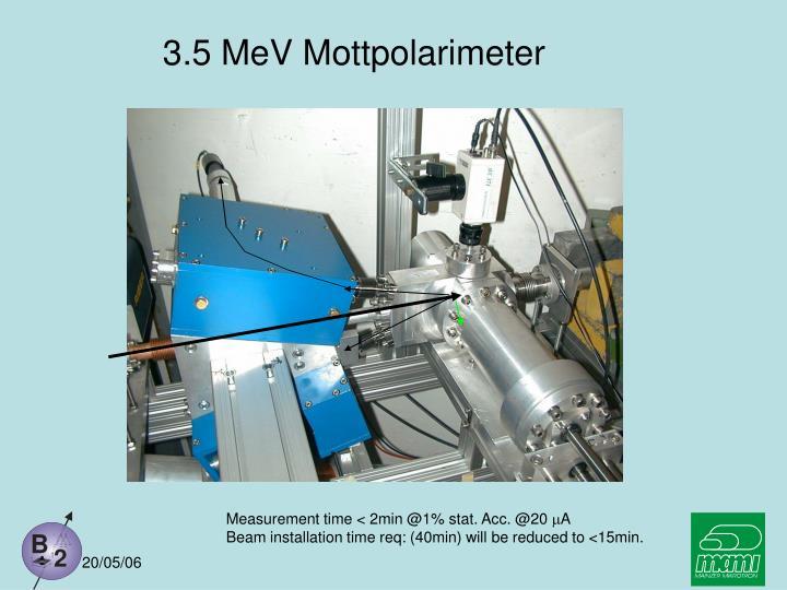 3.5 MeV Mottpolarimeter