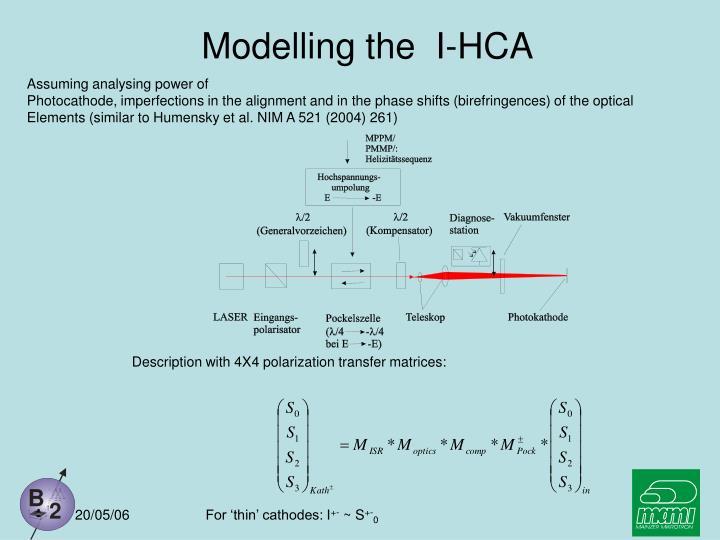 Modelling the  I-HCA