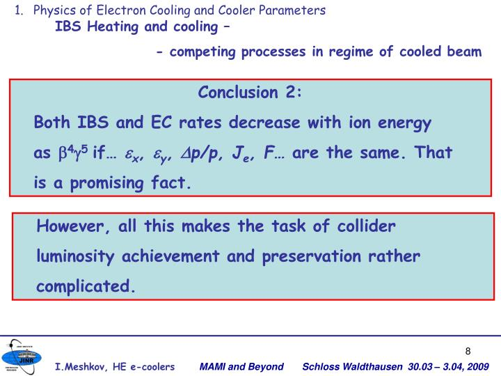 Physics of Electron Cooling and Cooler Parameters