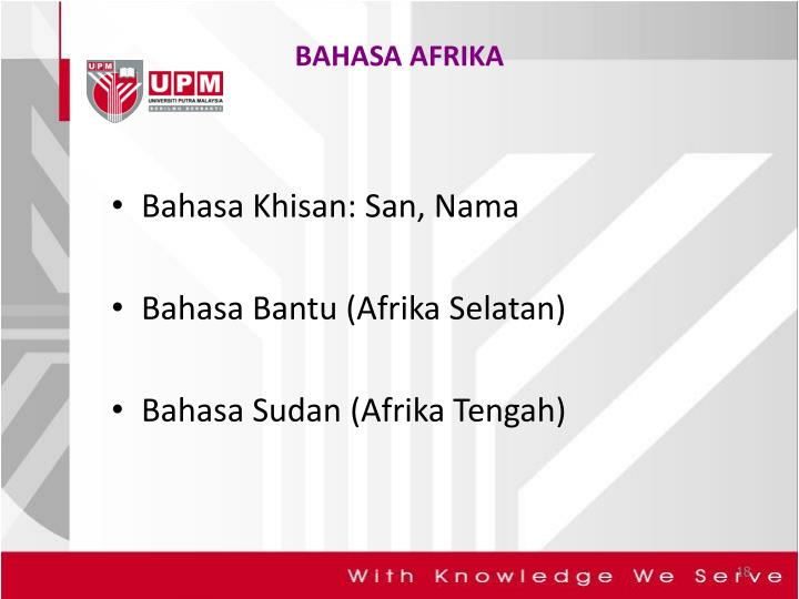 BAHASA AFRIKA