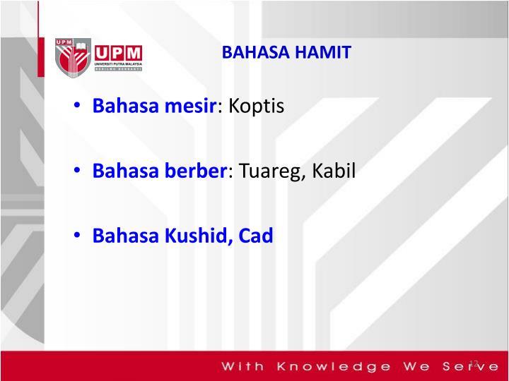BAHASA HAMIT