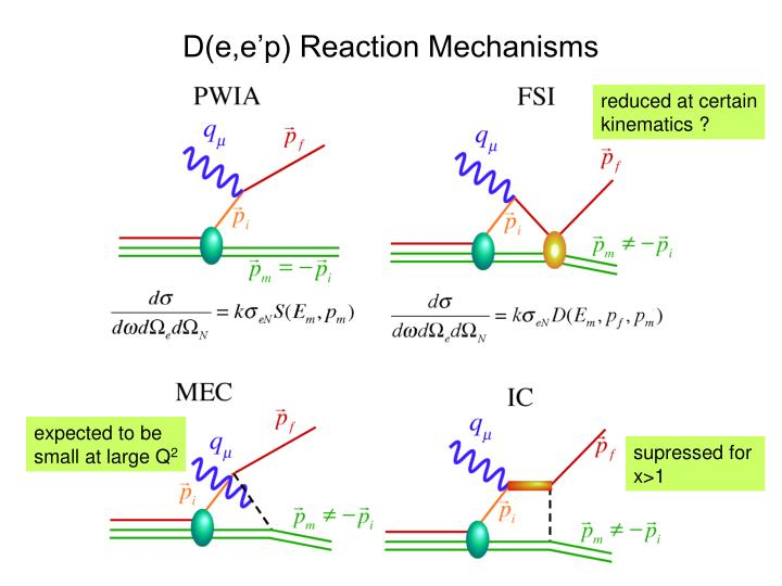 D(e,e'p) Reaction Mechanisms