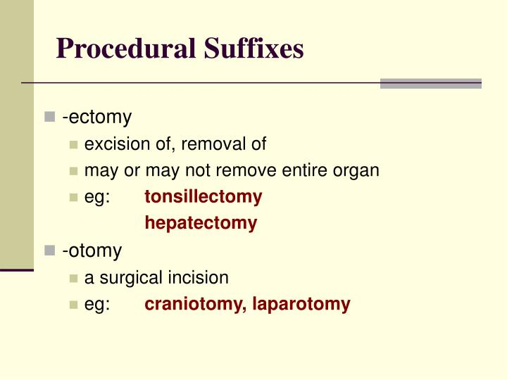 Procedural Suffixes