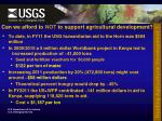 can we afford to not to support agricultural development