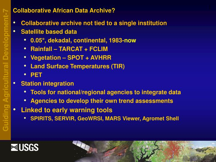 Collaborative African Data Archive?