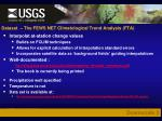 dataset the fews net climatological trend analysis fta