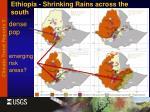 ethiopia shrinking rains across the south