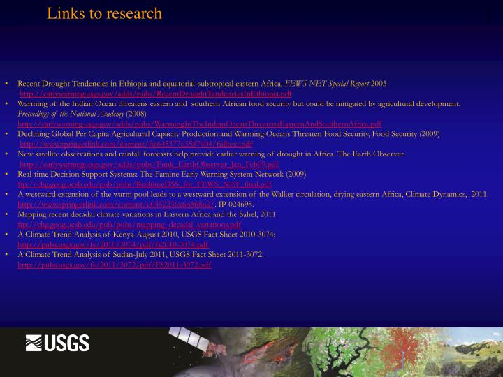 Links to research