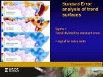 standard error analysis of trend surfaces