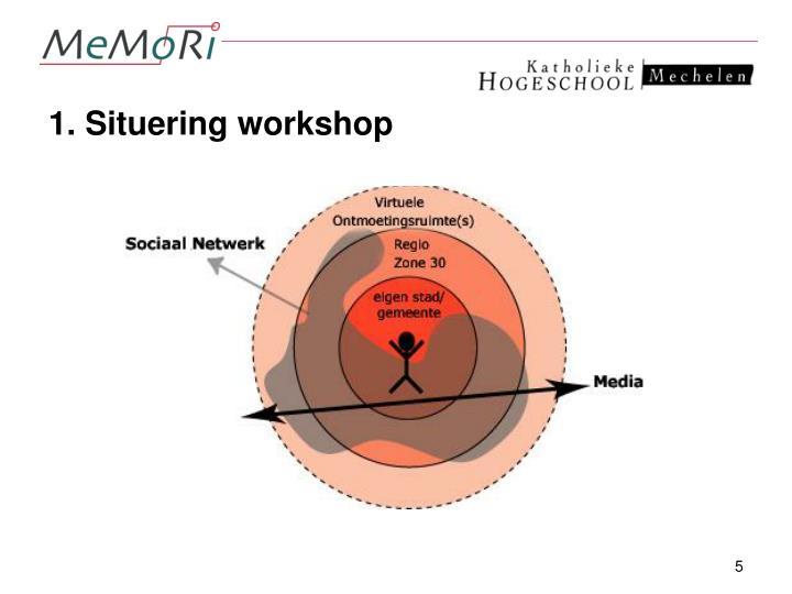 1. Situering workshop