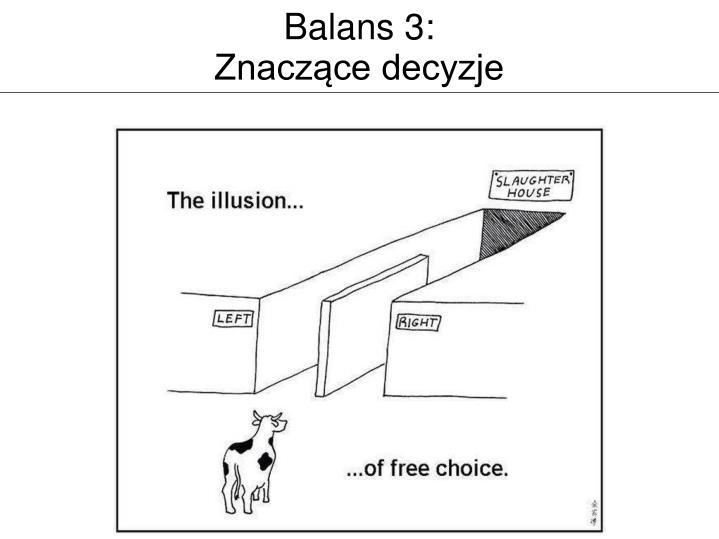 Balans 3: