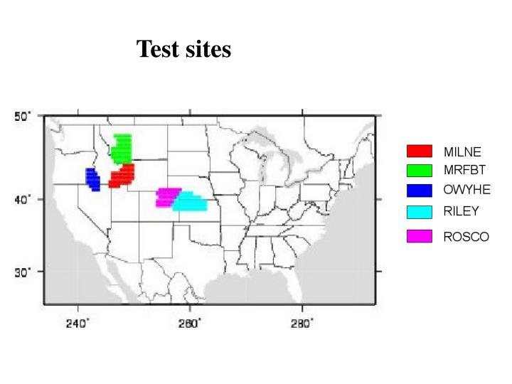 Test sites