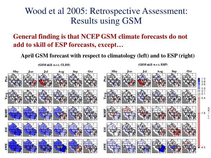Wood et al 2005: Retrospective Assessment: Results using GSM