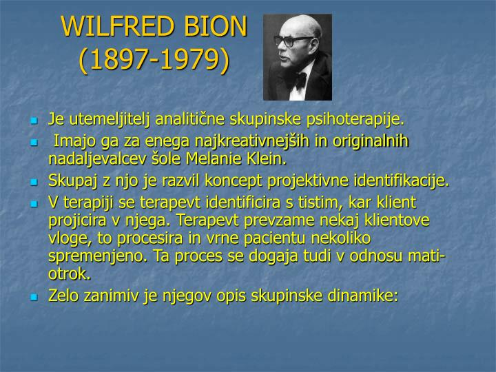 WILFRED BION (1897-1979)