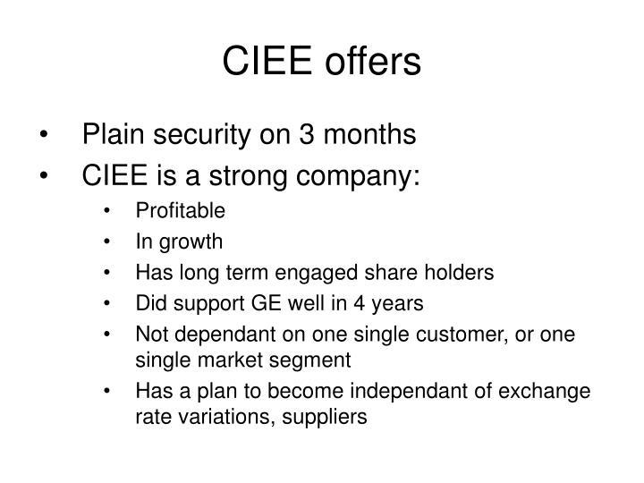 CIEE offers