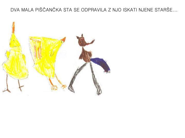 DVA MALA PIŠČANČKA STA SE ODPRAVILA Z NJO ISKATI NJENE STARŠE...