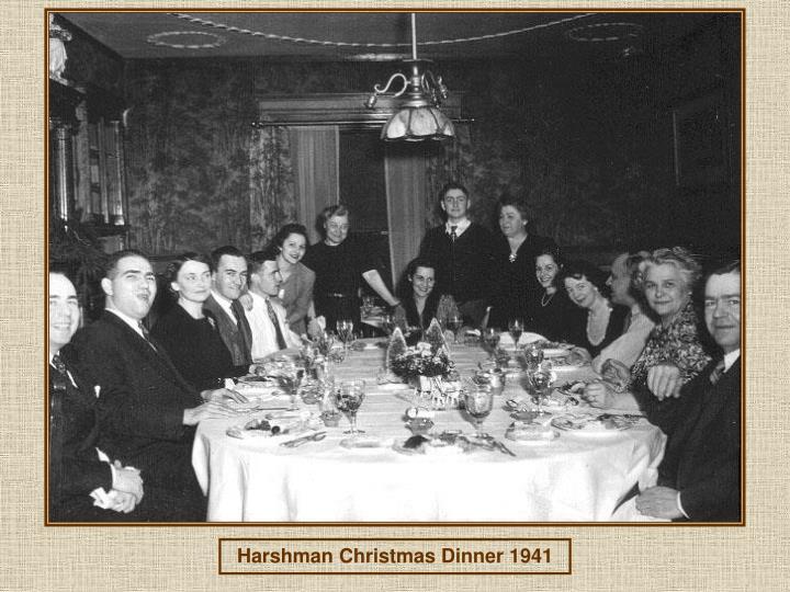 Harshman Christmas Dinner 1941