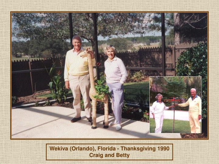 Wekiva (Orlando), Florida - Thanksgiving 1990