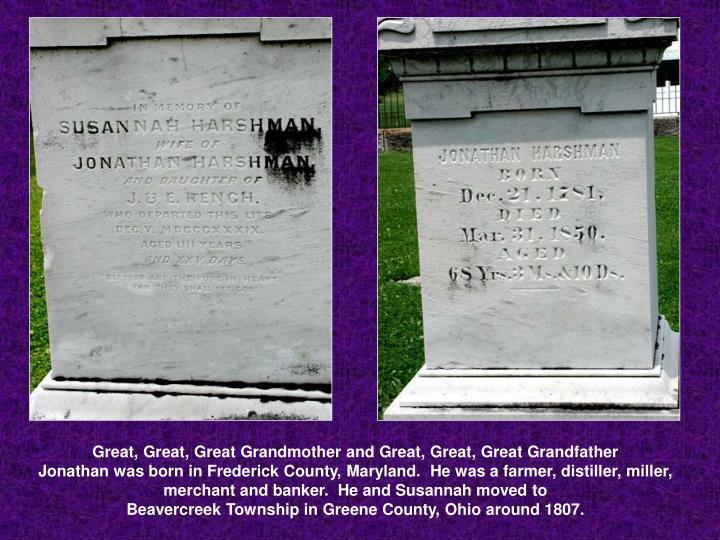 Great, Great, Great Grandmother and Great, Great, Great Grandfather
