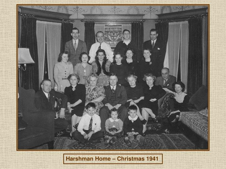 Harshman Home – Christmas 1941