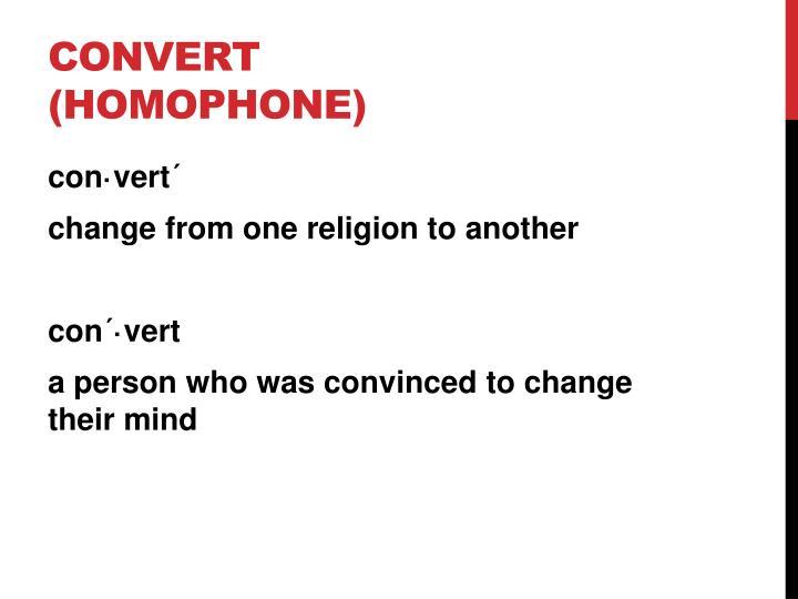 Convert (homophone)