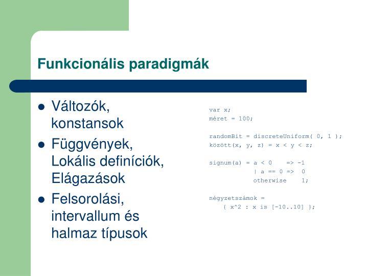 Funkcionális paradigmák