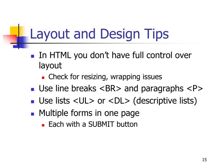 Layout and Design Tips
