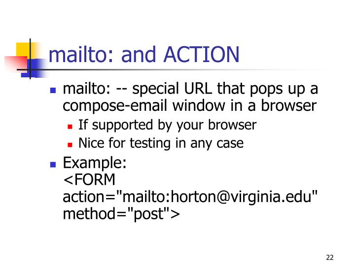 mailto: and ACTION