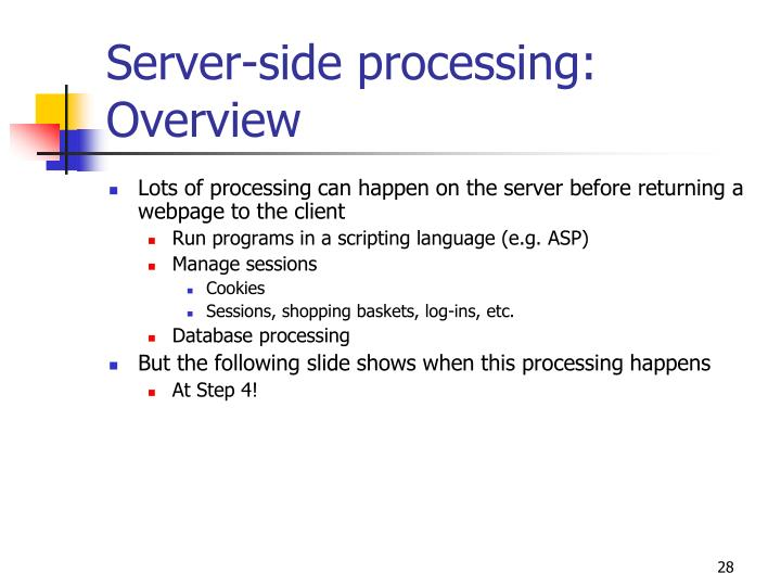 Server-side processing: Overview