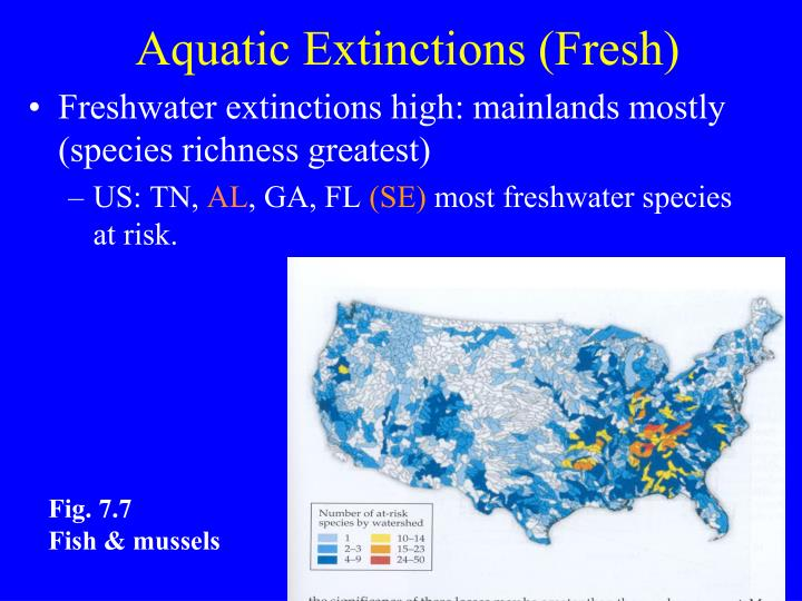Aquatic Extinctions (Fresh)