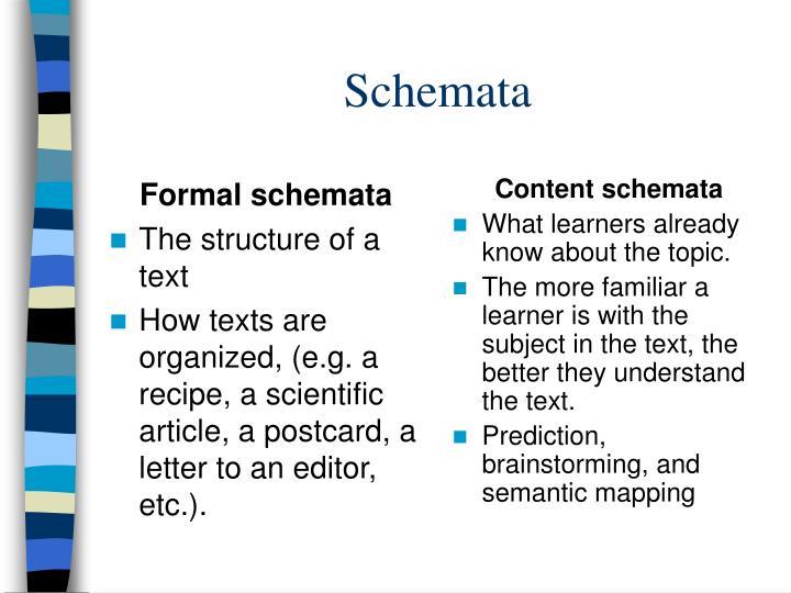 Formal schemata