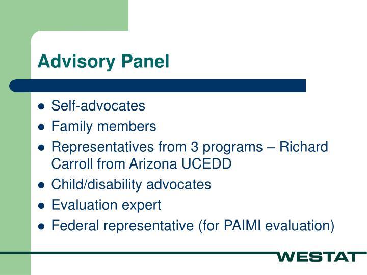 Advisory Panel