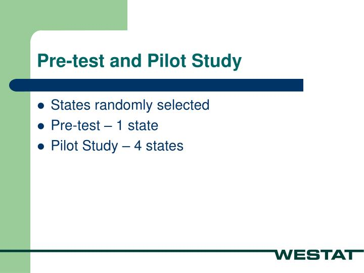 Pre-test and Pilot Study