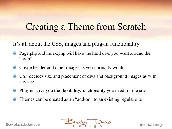 Creating a Theme from Scratch