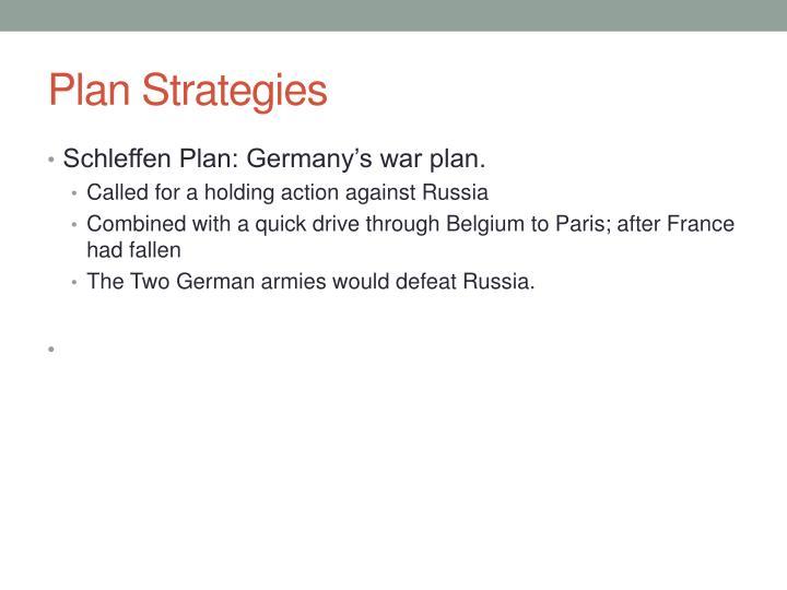 Plan Strategies
