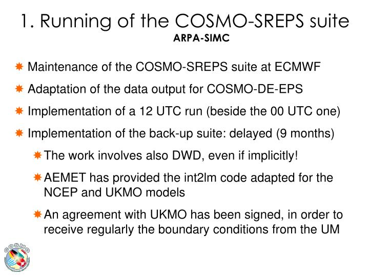 1. Running of the COSMO-SREPS suite