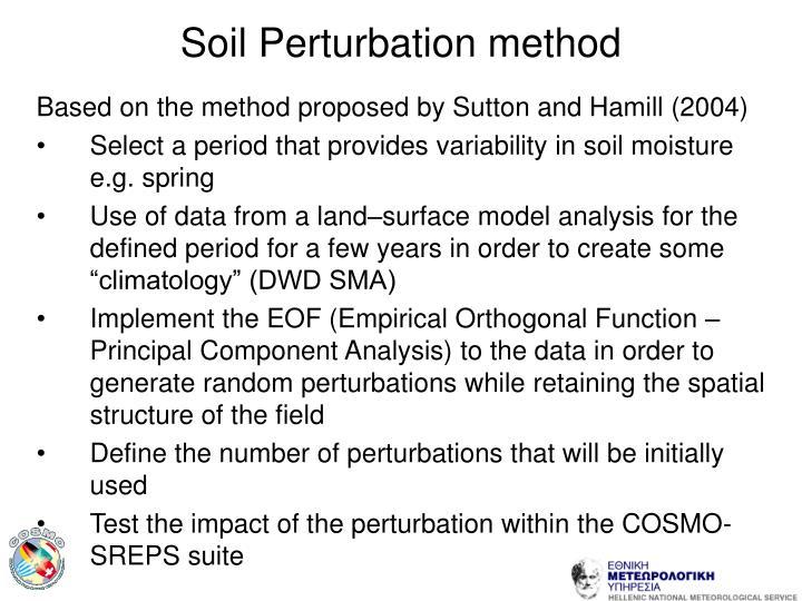 Soil Perturbation method