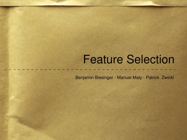 Feature selection