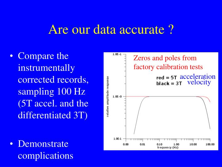 Are our data accurate ?
