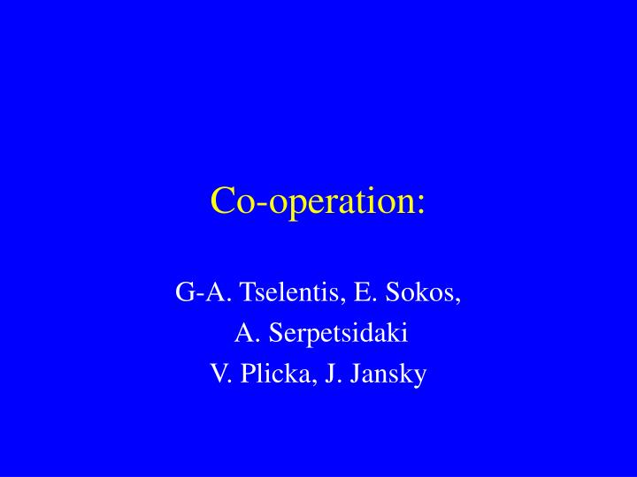 Co-operation: