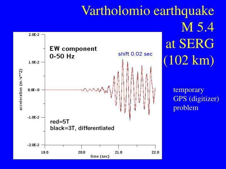 Vartholomio earthquake